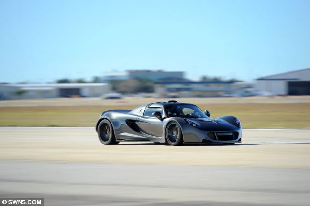 The Hennessey Venom GT is a Texan-built supercar powered by a 7-litre engine developing a huge 1,244bhp