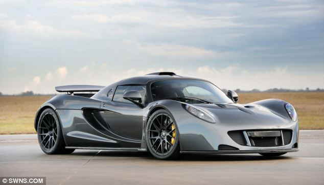 The Hennessey venom GT, which smashed the record for the world's fastest accelerating motor after hitting 186mph in just 13.63 seconds