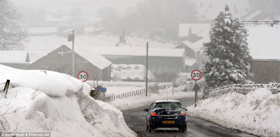 Ice ice baby: More very low temperatures are forecast in County Durham and beyond over the next few nights, before it turns warmer and wetter over the weekend
