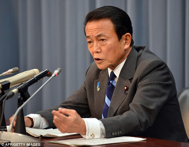 'Hurry up and die': Japanese Finance Minister Taro Aso said the elderly should be allowed to die to sooner to cut the costs to the state of having to care for them