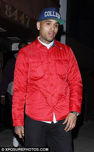 Spending time together: Chris Brown met up with Rihanna on Friday night and they then spent Sunday night at Greystone Manor
