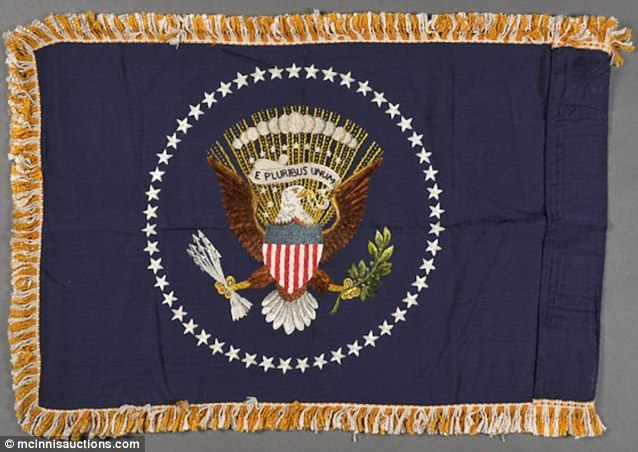 A presidential flag with the seal of office is expected to get as much as $10,000 next month.
