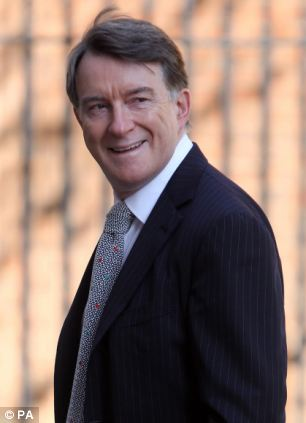 Former Labour cabinet minister Lord Mandelson