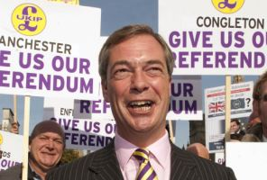 UKIP leader Nigel Farage hailed a victory for his party, after campaigning against the main parties for years for a referendum.