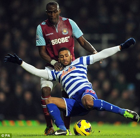 Keeping up appearances: Demel is set to start for West Ham against Arsenal tonight
