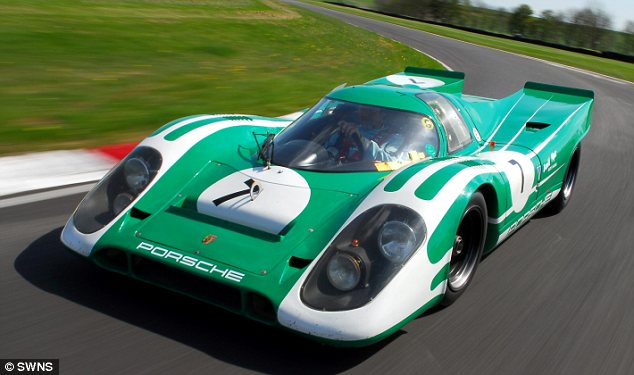 Damaged: This £1.3million replica of a Porsche 917 had its engine blow up after being over-revved by Mr Hales