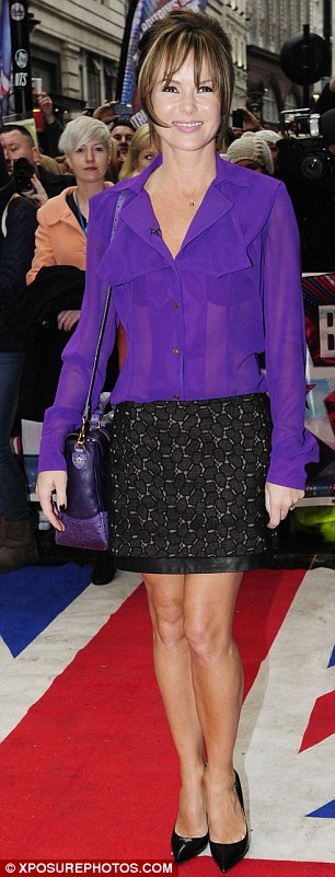 Sexy V Prim: Amanda Holden wore a see-through blouse and mini skirt, as Alesha Dixon went fro a prim and proper look at Wednesday's Britain's Got Talent auditions