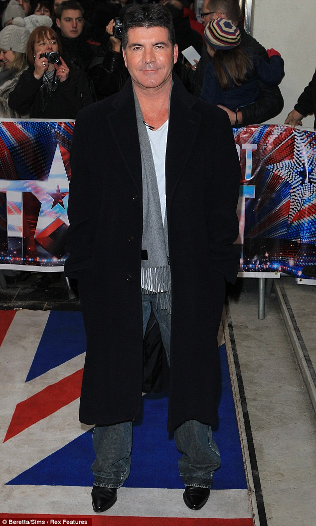 Smug Simon: As usual Simon didn't bother to dress up for auditions in London