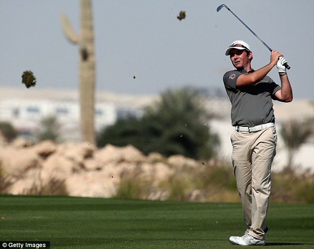 In contention: Scotland's Peter Whiteford is in a group just one shot off the pace