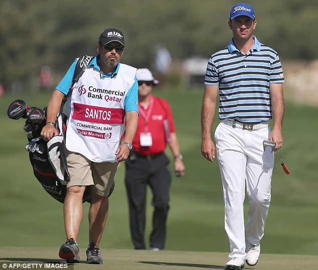 Out in front: Ricardo Santos leads the way after the first round of the Qatar Masters