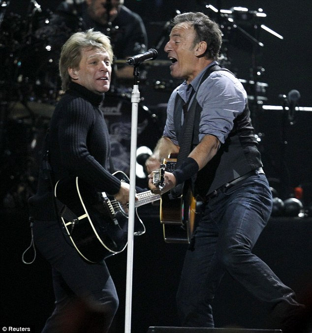 Turn up the volume: Jon Bon Jovi has promised to go all out at the concert, after Bruce Springsteen was cut off during his gig last year