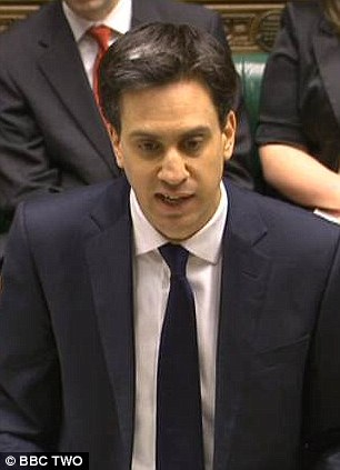 Fluffed it: Ed Miliband experienced a testing PMQs following David Cameron's speech on the EU