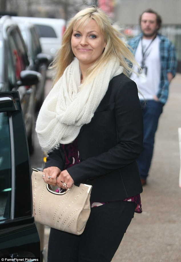 Another guest: Jo Joyner leaves the ITV studios, she was another star guest at the NTAs