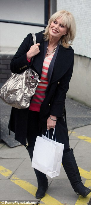 Captivating: Joanna Lumley looked gorgeous as she left the ITV studios