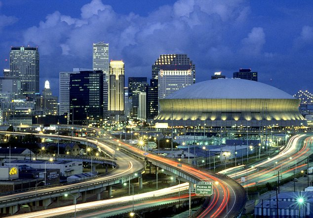 New Orleans Superdome and skyline