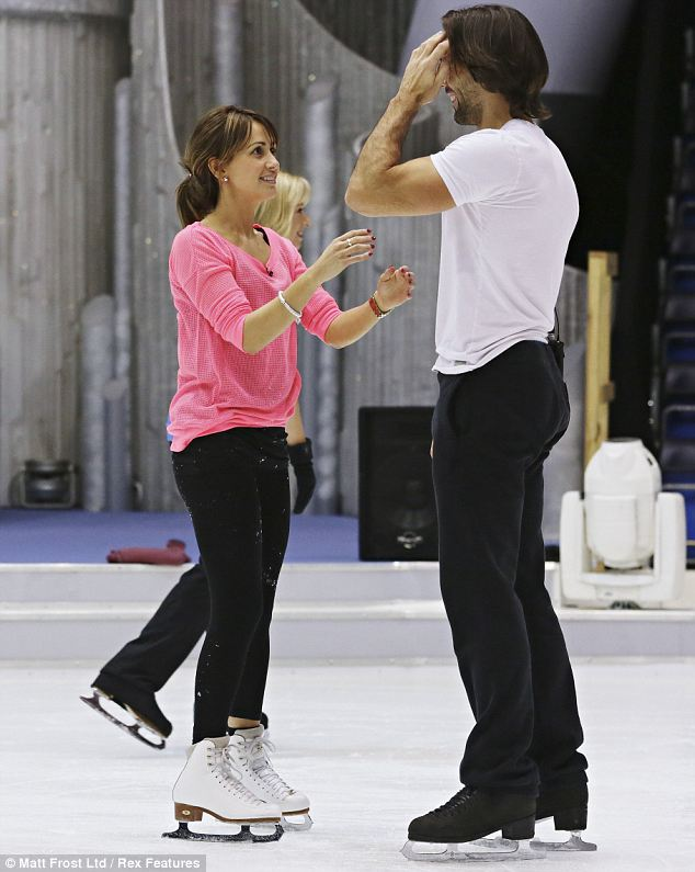 Getting ready: Samia and Sylvain will compete again this Sunday on the skating show