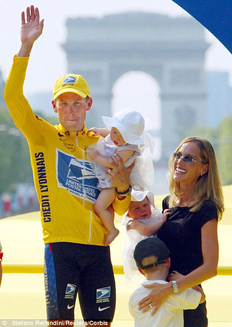 Stripped: The five-timeTour de France cycling champion has been stripped of his titles