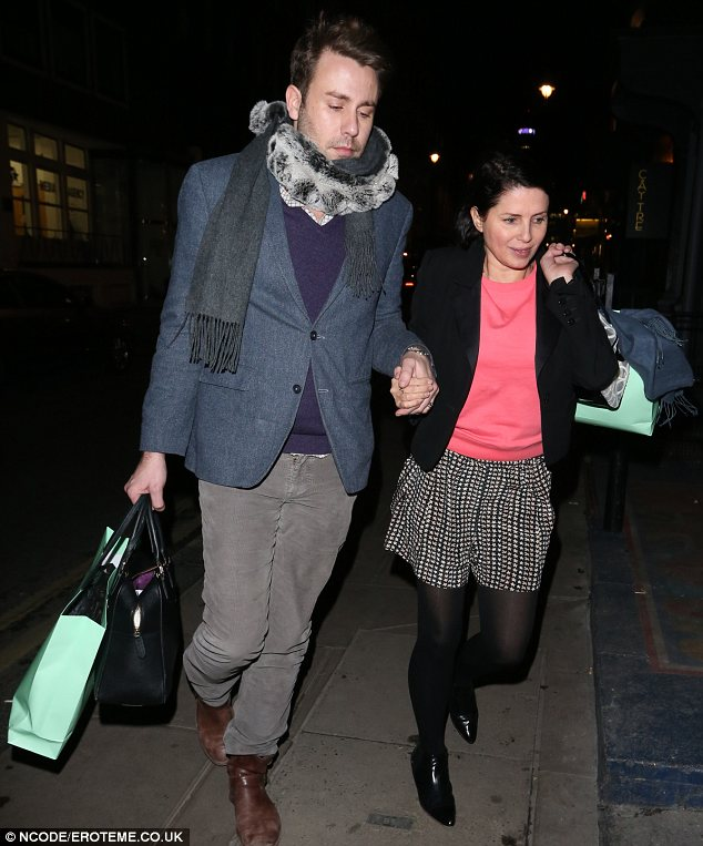 Hitting the town: Sadie Frost was seen arriving at the Groucho nightclub hand-in-hand with a male friend