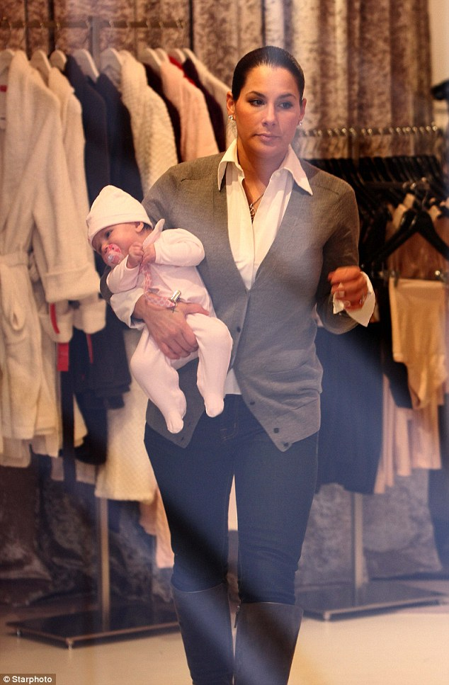 Glamor: Miss Dupré was pictured at her own store Femme By Ashley on Thursday
