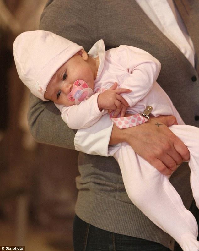 Gorgeous: Little Izabel was born at Jersey Medical Center on November 10, 2012