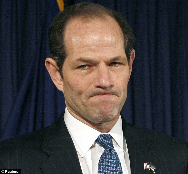 Scandal: Elliot Spitzer's political career ended in disgrace after he was accused of paying Dupré $2,000 for sex