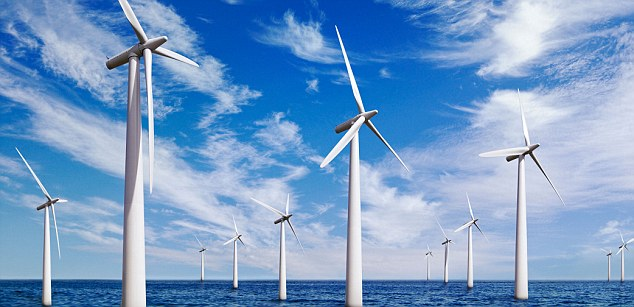 Thar she blows: Renewable Energy Generation announced a big breakthrough, with a £32million deal to sell two wind farms, including South Sharpley, to American fund manager Blackrock