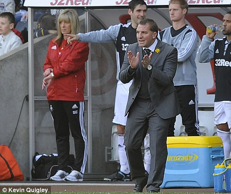 Flying Swan: Rodgers was manager at the Liberty Stadium for two years