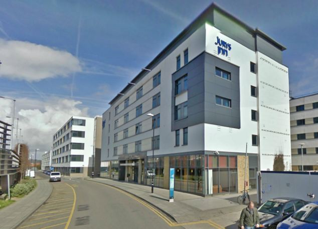 Allegation: Jury's Inn, Brighton, where the assault is alleged to have taken place following a night out