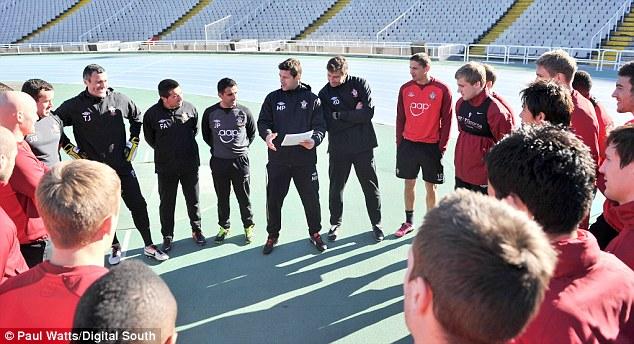 Giving instructions: Pochettino addresses his new team