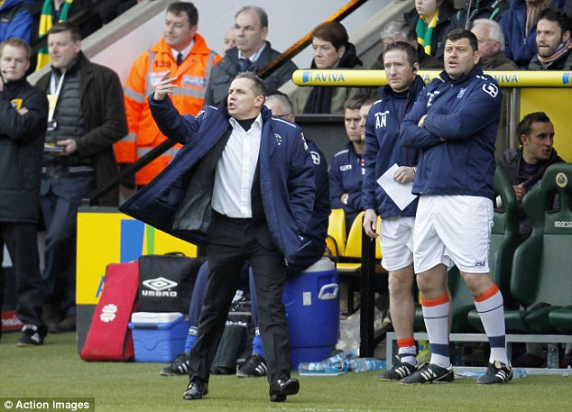 Come on then: Paul Buckle gives his team some instructions
