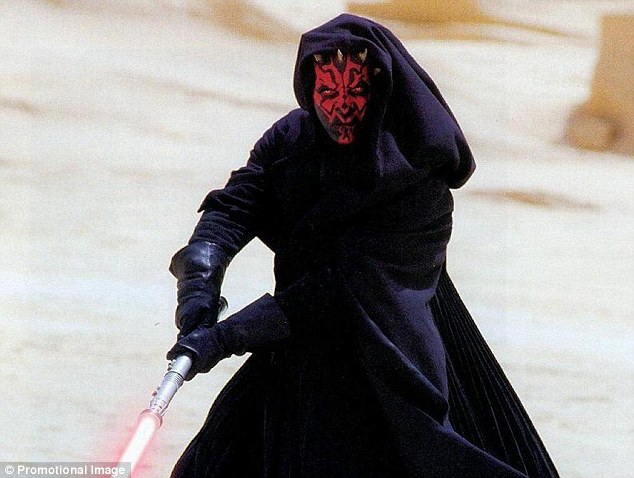 Darth Maul: Shoppers at Bluewater could catch a glimpse of the new cast of Star Wars characters shooting battle scenes in Kent