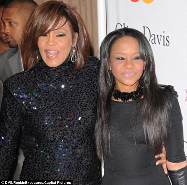 Mother and daughter: Whitney and her daughter Bobbi Kristina