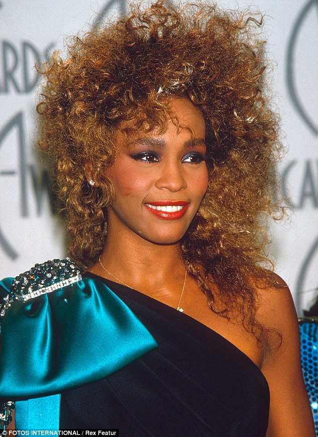 Glamorous: Whitney Houston a worldwide star back in her heyday in the 90s