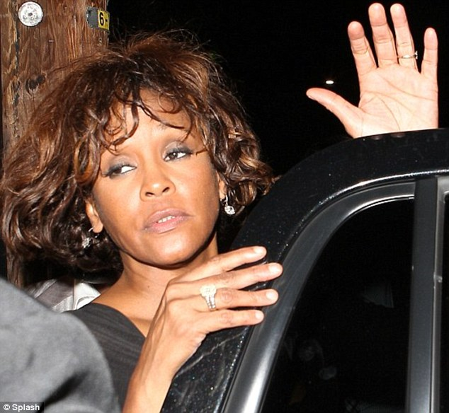 Last picture: Whitney Houston seen here two days before she died at the Beverley Hilton hotel