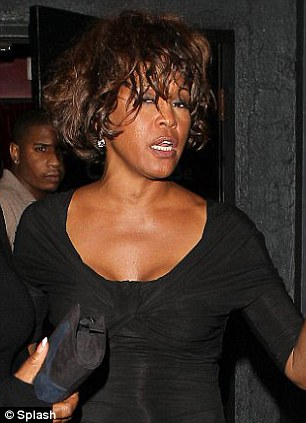 Party girl: Whitney Houston out in Los Angeles