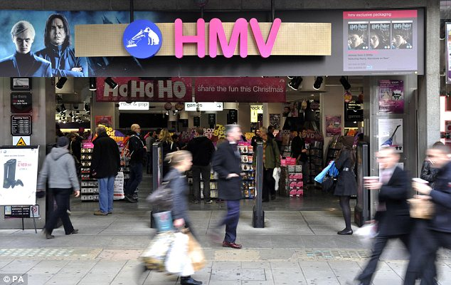 Negotiations: Hilco wants to rescue about half of the 220 HMV stores in Britain