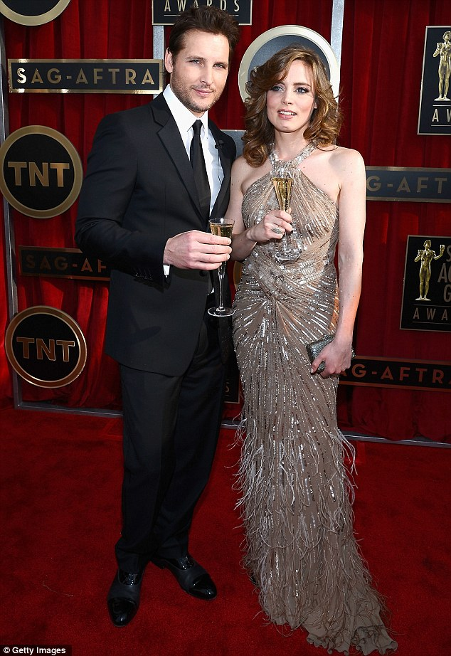 Her other half: Alexander's boyfriend, Peter Facinelli, scrubbed up well as he toasted the event with Vitalie Taittinger, artistic director of Taittinger champagne