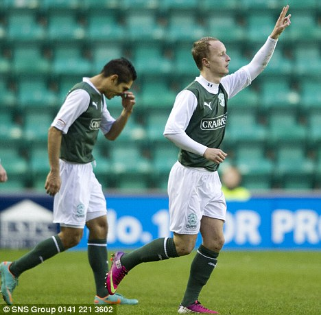 Top striker: Griffiths has scored 15 goals in 23 games this season for Hibs