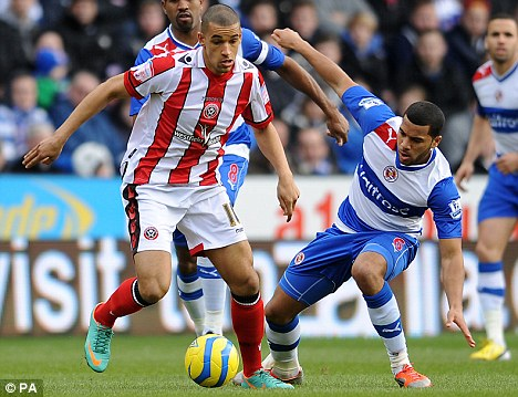 Happy: Sheffield United's Nick Blackman (left) rejected a move to Crystal Palace