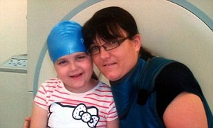 Becky with mother Julie, while she was undergoing radiotherapy. Mrs Bell has been told the bedroom at their home in Hartlepool was now classed as a 'spare room' and that they must pay £56 a month from April