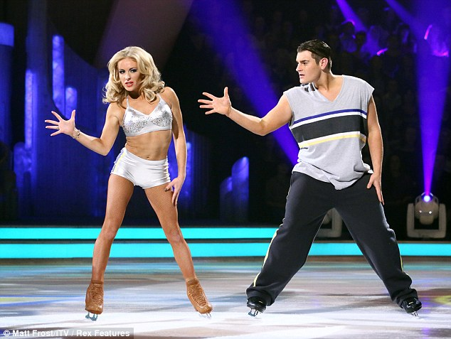 Top of the class: Matt Lapinskas tops the leader board on Dancing On Ice's School Disco week, scoring a total of 25.5