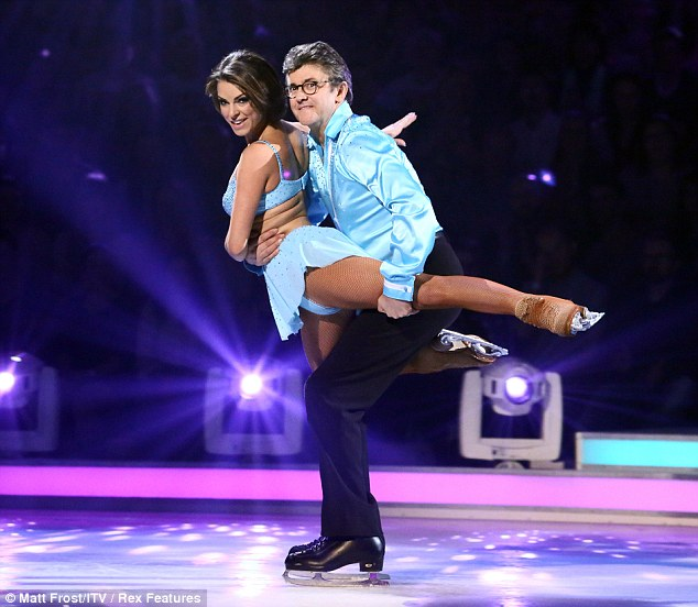 Low scorer: Joe Pasquale left the judges unimpressed but the fans kept him out of the crucial skate off