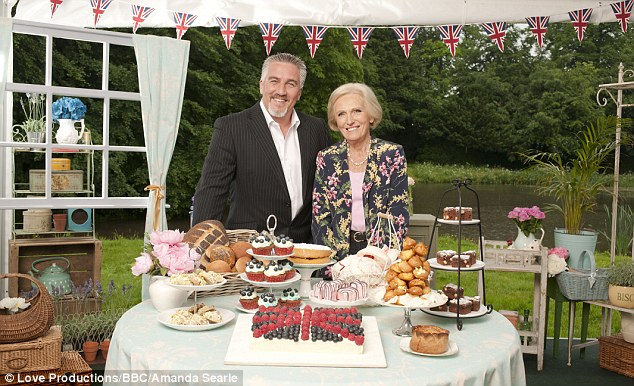 The star of the Great British Bake Off (right) said she loves to 'have men around' and that she is not a feminist