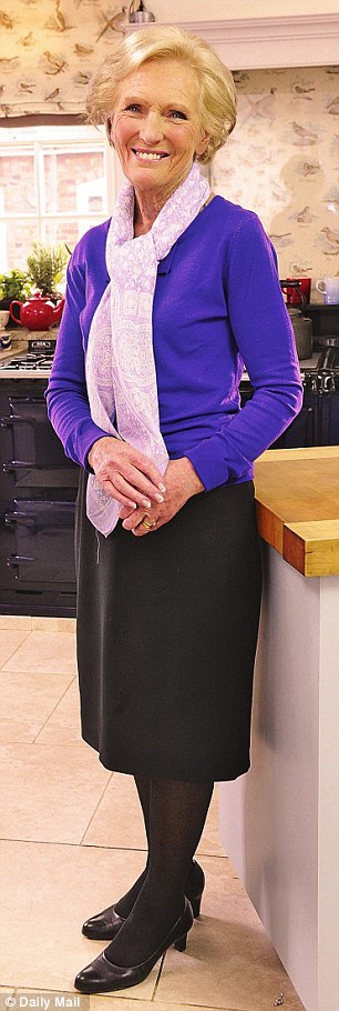 Mary Berry in the kitchen. She has published 70 cookbooks in a 46-year career