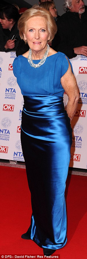 Elegant: Mary Berry last week. She has made her traditional view on gender equality clear