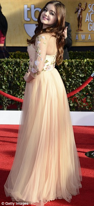 Delicate: Ariel and Jayma opted for fairy-tale frocks and both pulled them off wonderfully