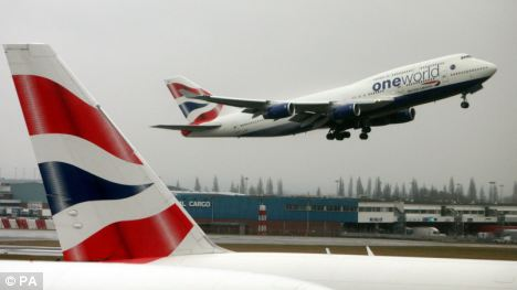 Emergency: A British Airways 747 was forced to make an emergency landing at Cardiff International Airport today