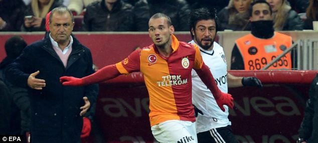 Instant impact: Liverpool had also looked at Galatasaray playmaker Wesley Sneijder
