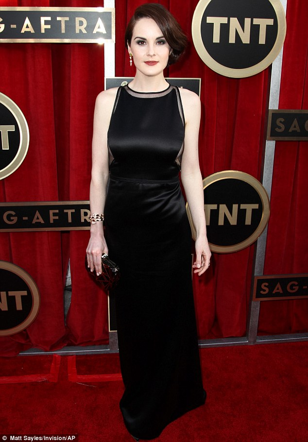 Leading the way: Michelle Dockery led the way for the British style set at the the 19th Annual SAG Awards on Sunday night