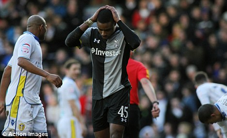 Blow: Tottenham also suffered defeat by lower league opposition